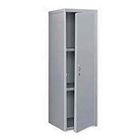 Pucel Heavy Duty Extra Wide Welded Steel Locker Single Tier 24x24x74 1 Door Gray