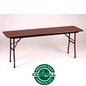 Correll Folding Table - Laminate - 18 X 60 - Walnut