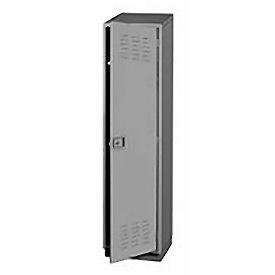 Pucel Heavy Duty Extra Wide Welded Steel Locker Single Tier 18x18x75 1 Door Gray