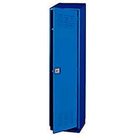 Pucel Heavy Duty Extra Wide Welded Steel Locker Single Tier 18x18x75 1 Door Blue