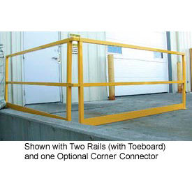 """Square Steel Guard Rail With Toeboard 41-5/8""""H X 122-1/2""""L"""