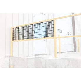 """Optional Guard Rail Wire Mesh Bolt-On Kit 120""""L"""