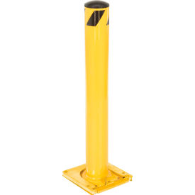 Removable Steel Bollard With Removable Plastic Cap 36 X 5-1/2