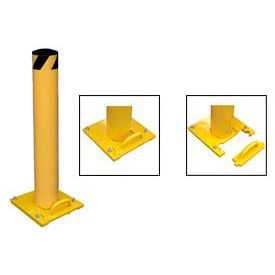 Removable Steel Bollard With Removable Plastic Cap 42 X 5-1/2