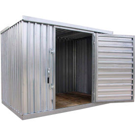 "Galvanized Steel Outdoor Storage Shed 9' 1-1/4""W x 6'5""D x 7'1""H"