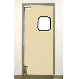 "Aleco® 3'0"" x 7'0"" Single Panel Light Duty Beige Impact Door 431094"