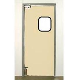 """Aleco® 3'0"""" x 7'0"""" Single Panel Light Duty Beige Impact Door 431094"""