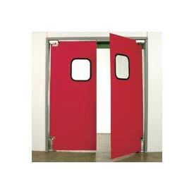 """Aleco® 6'0"""" x 7'0"""" Twin Panel Light Duty Red Impact Door 431107"""