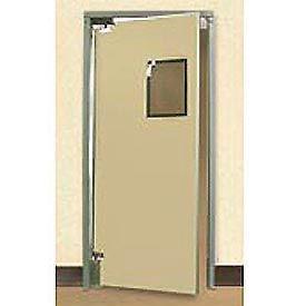 """Aleco® 2'6"""" x 7'0"""" Single Panel Medium Duty Beige Impact Door 432071"""