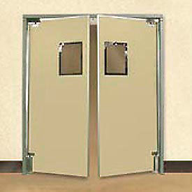 "5'0"" x 7'0"" Twin Panel Medium Duty Beige Impact Door"