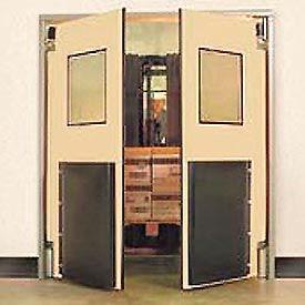 """Aleco® 6'0"""" x 7'0"""" Twin Panel Heavy Duty Beige Impact Door 435026"""