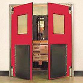 """Aleco® 6'0"""" x 8'0"""" Twin Panel Heavy Duty Red Impact Door 435034"""