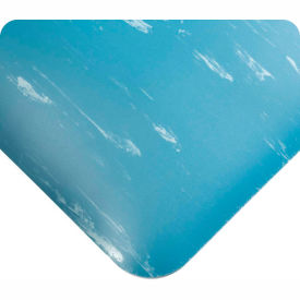 """Antimicrobial Tile Top Antifatigue Mat 7/8"""" Thick 3 Ft Wide Full 60ft Blue"""