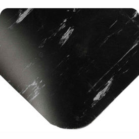 """Antimicrobial Tile Top Antifatigue Mat 1/2"""" Thick 4 Ft Wide Up To 60 Ft Black"""
