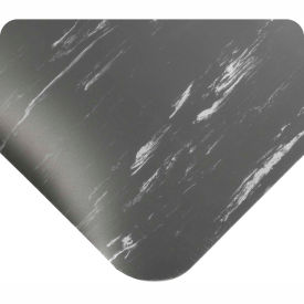 """Antimicrobial Tile Top Antifatigue Mat 1/2"""" Thick 4 Ft Wide Up To 60 Ft Charcoal"""