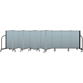 "Screenflex Portable Room Divider 11 Panel, 4'H x 20'5""L, Vinyl Color: Blue"