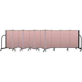 """Screenflex Portable Room Divider 11 Panel, 4'H x 20'5""""L, Vinyl Color: Mauve"""