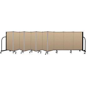 """Screenflex Portable Room Divider 11 Panel, 4'H x 20'5""""L, Vinyl Color: Oatmeal"""