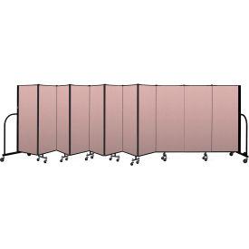 """Screenflex Portable Room Divider 11 Panel, 5'H x 20'5""""L, Vinyl Color: Mauve"""