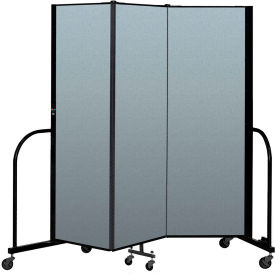 "Screenflex Portable Room Divider 3 Panel, 6'H x 5'9""L, Vinyl Color: Sand"