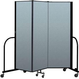 "Screenflex Portable Room Divider 3 Panel, 6'H x 5'9""L, Vinyl Color: Sand"