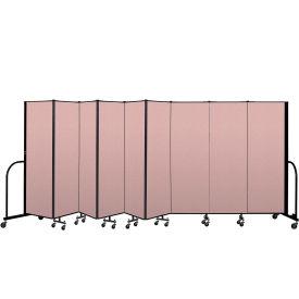 """Screenflex Portable Room Divider 9 Panel, 6'H x 16'9""""L, Vinyl Color: Mauve"""