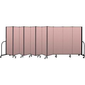 """Screenflex Portable Room Divider 11 Panel, 6'H x 20'5""""L, Vinyl Color: Mauve"""