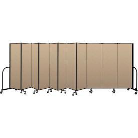 """Screenflex Portable Room Divider 11 Panel, 6'H x 20'5""""L, Vinyl Color: Oatmeal"""