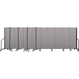 """Screenflex Portable Room Divider 13 Panel, 6'H x 24'1""""L, Vinyl Color: Gray"""