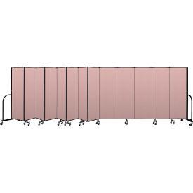 """Screenflex Portable Room Divider 13 Panel, 6'H x 24'1""""L, Vinyl Color: Mauve"""