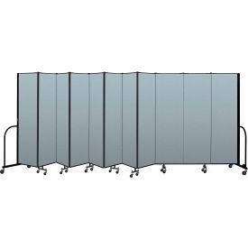 "Screenflex Portable Room Divider 11 Panel, 6'8""H x 20'5""L, Vinyl Color: Blue"