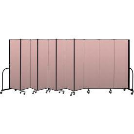 """Screenflex Portable Room Divider 11 Panel, 6'8""""H x 20'5""""L, Vinyl Color: Mauve"""