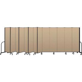"""Screenflex Portable Room Divider 13 Panel, 6'8""""H x 24'1""""L, Vinyl Color: Oatmeal"""