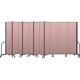 """Screenflex Portable Room Divider 11 Panel, 7'4""""H x 20'5""""L, Vinyl Color: Mauve"""