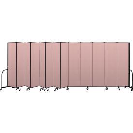 """Screenflex Portable Room Divider 13 Panel, 7'4""""H x 24'1""""L, Vinyl Color: Mauve"""