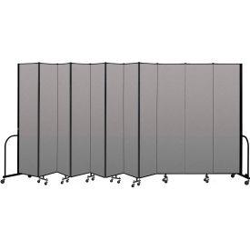 """Screenflex Portable Room Divider 11 Panel, 8'H x 20'5""""L, Vinyl Color: Gray"""