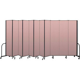 """Screenflex Portable Room Divider 11 Panel, 8'H x 20'5""""L, Vinyl Color: Mauve"""