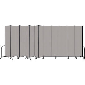 """Screenflex Portable Room Divider 13 Panel, 8'H x 24'1""""L, Vinyl Color: Gray"""