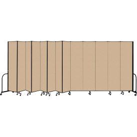 """Screenflex Portable Room Divider 13 Panel, 8'H x 24'1""""L, Vinyl Color: Oatmeal"""