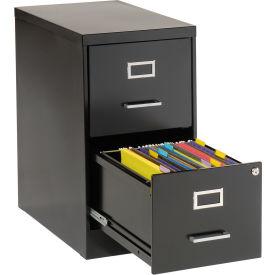 2 Drawer Vertical File-Black