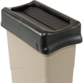 Lid for 16-23 Gallon Rectanguler Rubbermaid Trash Can - Black