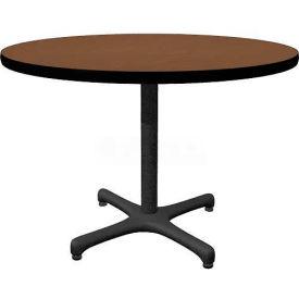 """Allied Plastics Round Restaurant Table - 42"""" - Walnut"""