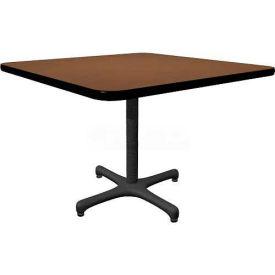 "Allied Plastics Square Restaurant Table - 42"" - Walnut"