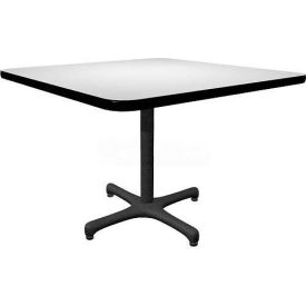 "Allied Plastics Square Restaurant Table - 42"" - Gray"