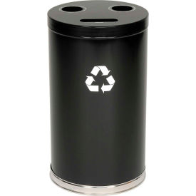 "3-In-1 Steel Recycling Container Black 18""Dia X 33""H"