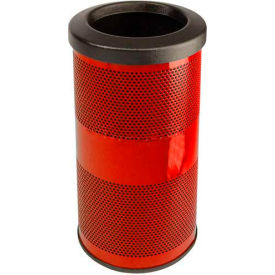 Perforated Stadium Series® Trash Container - 10 Gallon Red