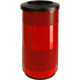 Perforated Stadium Series® Trash Container - 20 Gallon Red