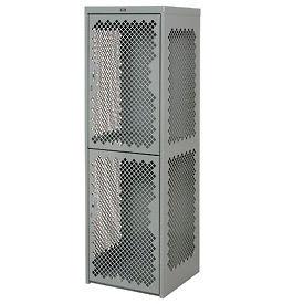 Pucel Heavy Duty Extra Wide Vented Steel Locker Single Tier 24x24x74 1 Door Gray