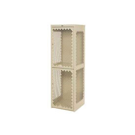 Pucel Heavy Duty Extra Wide Vented Steel Locker Single Tier 24x24x74 1 Door Putty
