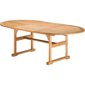 "Oxford Garden® 88"" Oval Outdoor Dining Table - Teak"